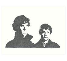 Sherlock and Watson Art Print
