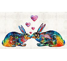 Bunny Rabbit Art - Hopped Up On Love - By Sharon Cummings Photographic Print