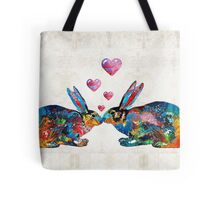 Bunny Rabbit Art - Hopped Up On Love - By Sharon Cummings Tote Bag