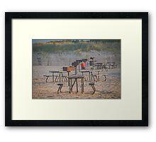 Beach BBQ - Wantagh, New York Framed Print