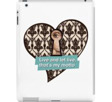Mrs. Hudson's motto iPad Case/Skin