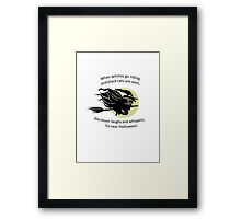 When Witches Are riding Tis Near Halloween Framed Print