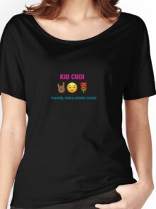 Kid Cudi - Passion Pain & Demon Slayin' Emoji Cover Women's Relaxed Fit T-Shirt