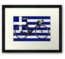 Bike Flag Greece (Big - Highlight) Framed Print