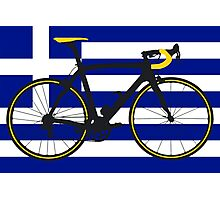Bike Flag Greece (Big - Highlight) Photographic Print