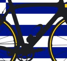 Bike Flag Greece (Big - Highlight) Sticker