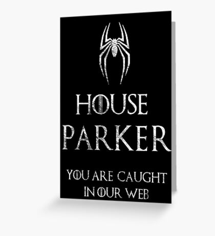 The noble house of Parkers Greeting Card