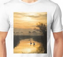 Swans and Pevensey Levels Dawn Unisex T-Shirt
