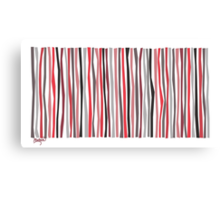 Red Black and Gray Color Sticks Canvas Print