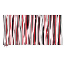 Red Black and Gray Color Sticks Photographic Print