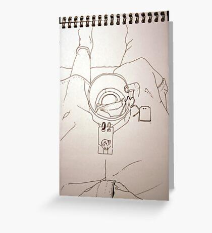 Petits Dessins Debiles - Small Weak Drawings#39 Greeting Card