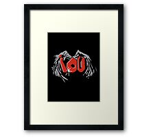 Sherlocked IOU Graffiti Black Framed Print