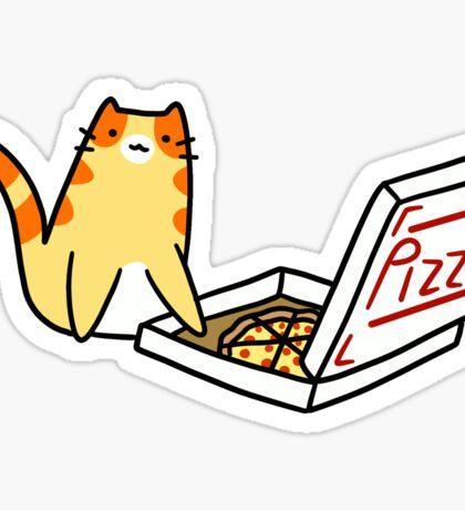 Pizza Box Tabby Cat Sticker
