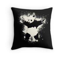 Bansky Panda Throw Pillow