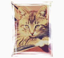 Retro Kitten Photo Kids Tee