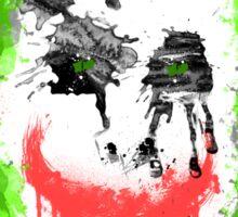 Joker Splatter Art Sticker