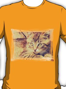 Retro Kitten Photo 2 T-Shirt