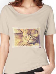 Retro Kitten Photo 2 Women's Relaxed Fit T-Shirt