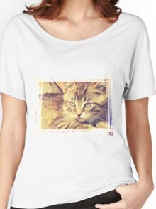 Retro Kitten Photo 2 Women's Relaxed Fit T-Shirt