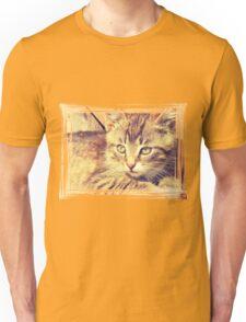 Retro Kitten Photo 2 Unisex T-Shirt