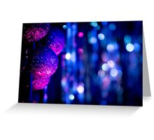 Christmas Xmas nativity decorative blue and pink balls00 Greeting Card