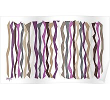 Plums and Browns Color Sticks Poster