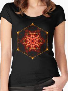 Energetic Geometry - Hexagon Mandala  Women's Fitted Scoop T-Shirt