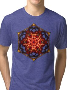 Energetic Geometry - Hexagon Mandala  Tri-blend T-Shirt