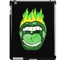 Flaming halloween mouth iPad Case/Skin