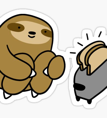 Sloth Making Toast Sticker