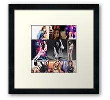 JESSICA JUNG COLLAGE Framed Print
