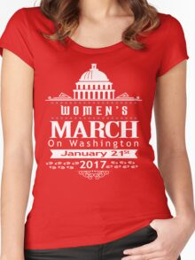 Million Women's March on Washington 2017 Redbubble T-Shirts Women's Fitted Scoop T-Shirt