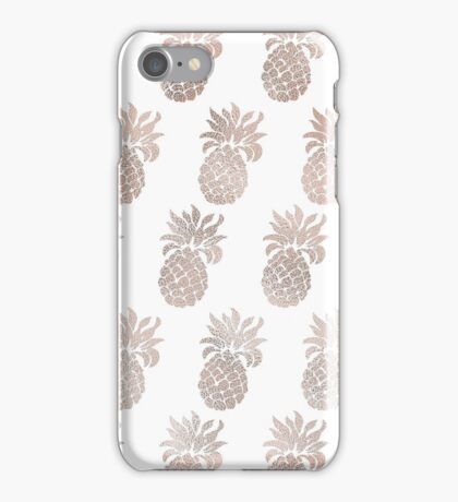 Rose gold pineapples iPhone Case/Skin