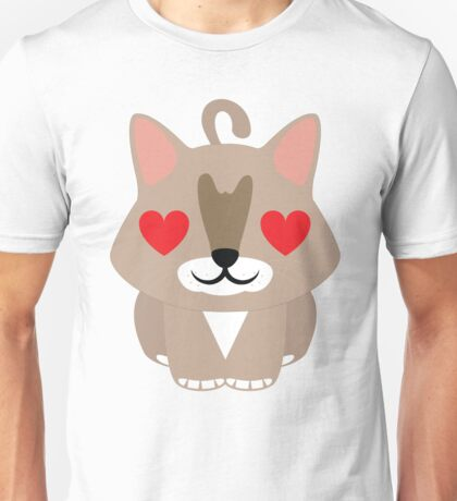Maine Coon Cat Emoji Heart and Love Eyes Unisex T-Shirt