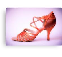 Ballroom and latin salsa dance shoe for ladies Canvas Print