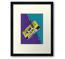 Kid 80s - Cassette Tape Rewind with Pen Framed Print
