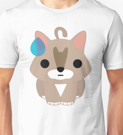 Maine Coon Cat Emoji Sweating and Speechless Look Unisex T-Shirt