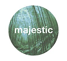 Unofficial Majestic Casual design bamboo Photographic Print