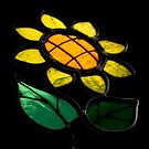 Flowers 1 - Stained Glass - by PB-SecretGarden