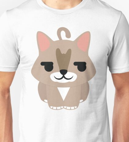Maine Coon Cat Emoji Shy and Happy Face Unisex T-Shirt