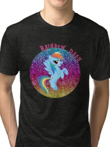 RainbowDashGlitter Tri-blend T-Shirt