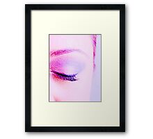 Eye of an attractive young woman closed Framed Print