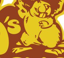 70's Beaver Sticker
