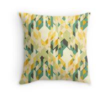des-integrated tartan pattern Throw Pillow