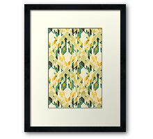 des-integrated tartan pattern Framed Print