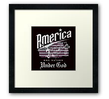 America One Nation Under God Framed Print