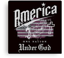 America One Nation Under God Canvas Print
