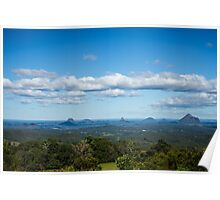Glasshouse Mountains. QLD Poster