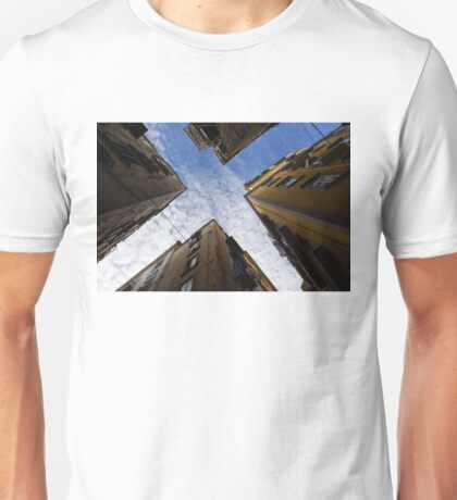 Skyward in Naples Italy - Spanish Quarters Take Three Unisex T-Shirt