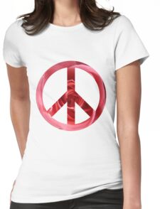 Peaceful Rose Womens Fitted T-Shirt